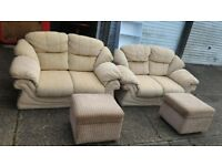 2 two seater sofas with two storage box