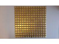 Stunning Gold effect Brass Glass mosaic sheet bathroom kitchen wall tile 300 x 300 mm