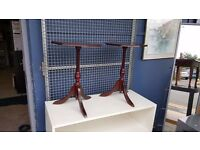Twin Retro Plant Stands / Small Side Tables in Excellent Condition