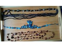 Three stylish bead necklaces - £3 each or all for £7