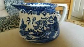 Burleigh ware willow Burslem jug