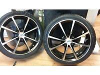 """set of mint 17"""" (4x100) tsw alloys &brand new tyres (fit ford/vaux/honda etc) LOADS MORE AV 7-DAYS"""