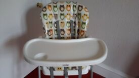 Joie owl pattern high chair/ snack chair