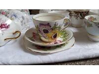 90 Vintage trios Cups saucers and plates