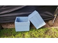 UNCOLLECTED ORDER 2X BLUE PLANTERS SLIGHTLY DIFFERENT IN SIZE
