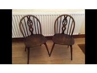 Two antique dining chairs good condition