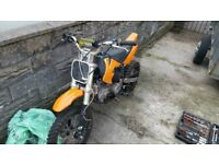 140cc stomp pitbike... Needs back inner tube as its punchered runs and rides as it should do