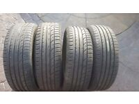 4x CONTINENTAL CONTI PREMIUM 2 PART WORN SUMMER TIRES TYRE 215 55 R 18 6-8mm