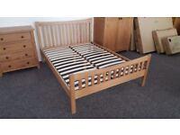 Julian Bowen Bergamo Oak Double Bed **CAN DELIVER**
