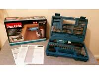 Makita DF001DW Screwdriver 1.5AH Battery 3.6 V 81 Accessory Set Kit UK Plug NEW
