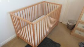 Cot and mattress, used only occasionally
