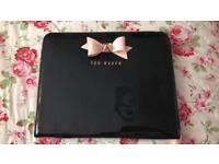 Ted Baker black iPad case with pink bow
