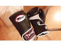 Twins Special 14oz Gloves and Shin Guards Muay Thai - Glasgow city centre.