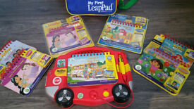 My First Leap Pad with 6 Games (2 still sealed) with Brand New Backpack - Good as NEW