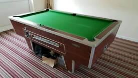 6x3 slate bed English pool table