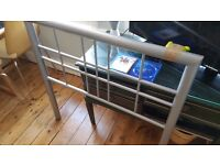 single bed frame - silver - sturdy