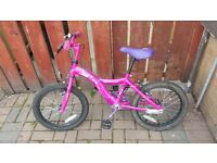 GIRLS 18 INCH APOLLO PINK BIKE AS NEW HARDLY USED!!