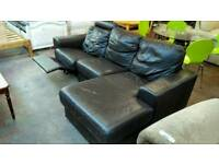 Corner sofa with recliner seat