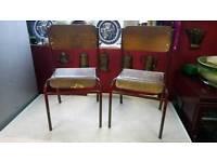 Pair of vintage school chairs