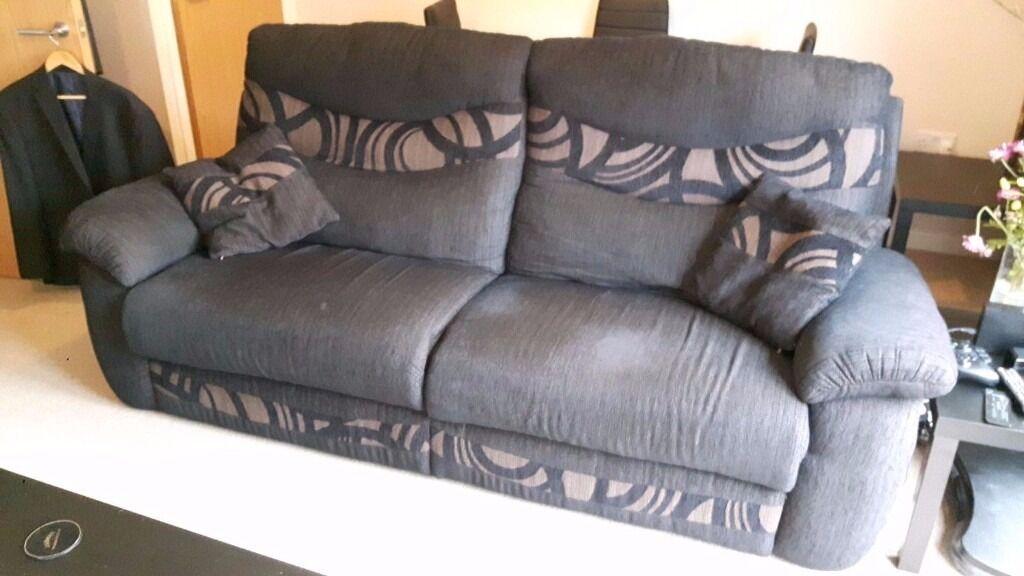 Scs Casper Black Fabric 3 Seater Sofa 2 Seater Sofa In
