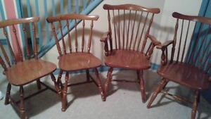 Set of 4 solid wood kitchen chairs