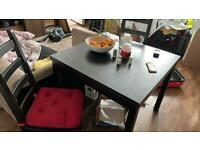 Wood table with 4 chair