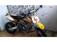 *** ROAD LEGAL PITBIKE *** 140CC Registered as 124cc, LEARNER Legal