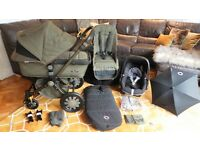 BUGABOO CAMELEON3 DIESEL SPECIAL EDITION+MAXI COSI CAR SEAT & MANY EXTRAS-RRP£1372.00