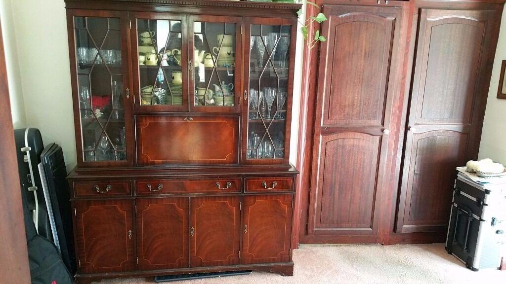 Classic Dining Room Semi Glazed Display Storage Drinks Cabinet