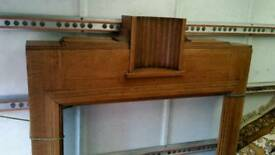 Art deco oak fireplace surround