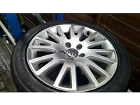 VW Alloys and Continental Tyres