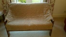 RETRO DOMINO MOBLER TWO SEATER SOFA MADE IN DENMARK