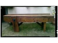 Antique vintage work bench