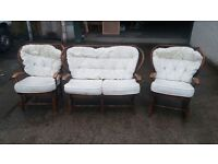 CONSERVATORY ROCKER - SOFA AND ARMCHAIR SOLD!