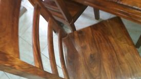 Solid wood dining table with 4 matching chairs
