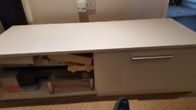 White 55 inch TV unit