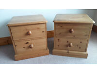 Pair of Corndell pine bedside cabinets