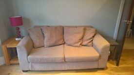 Lovely Large 2 Seater Sofa - Neutral