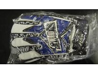 wulfsport gloves motocross motox quad enduro adult size small in blue
