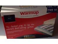 Proprietary brand 'Warm up' underfloor kits for bathroom,kitchen,conservatory etc.