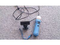 Playstation move camera and controller