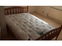 Very Comfortable Double Mattress with Classic Wooden Frame