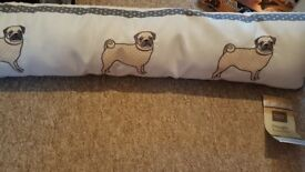 Pug shabby chic style draught stopper