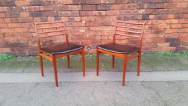 Mid Century Modern Danish dining chairs by Erling Torvits Soro Stolefabrik