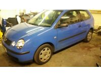 BROKEN FOR PARTS vw polo 9n 1,2 LA5F FIRE SALE ALL CHEAP TO CLEAR FOR NEW STOCK