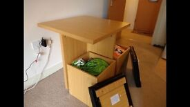 Storage table and chairs