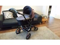 Pram, Pushchair, Car Seat and isofix base - Colour: Cloud (grey) - make: Jane Epic
