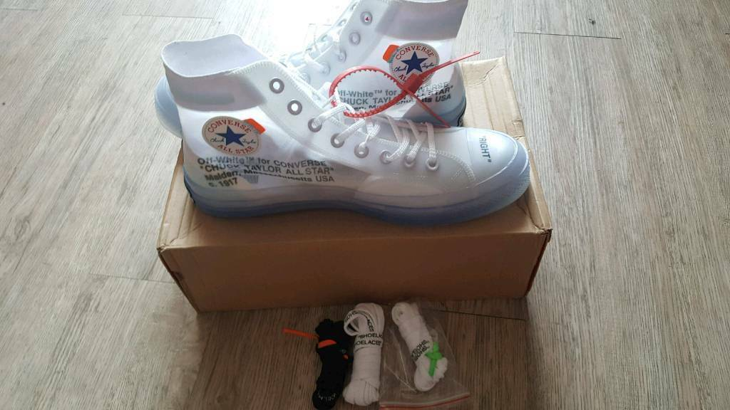a0d37cd9b3df5b AUTHENTIC THE TEN OFF WHITE VIRGIL ABLOH X CONVERSE CHUCK TAYLOR 70 UK 🇬🇧  size 10 euro 44