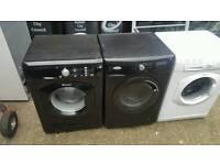 Black washing machines 8kg (high spec)
