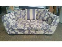 Fabric Floral 2 Seater Sofa
